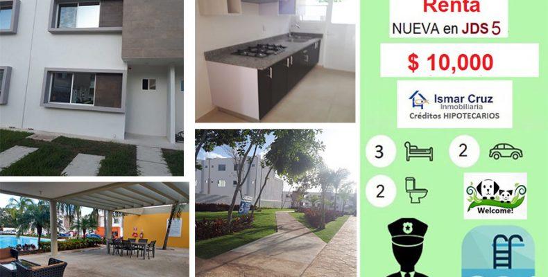 Casa Renta JD5 $ 10,000 de 3 Recám