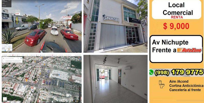 Local Renta Av Nichupte Frente a AutoZone $ 9,000